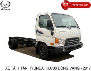 xe tải 7 tấn hyundai hd700 đồng vàng - Chassis
